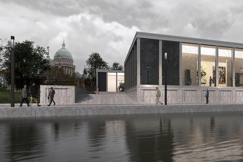 Neubau einer Kunsthalle für eine Sammlung moderner Kunst