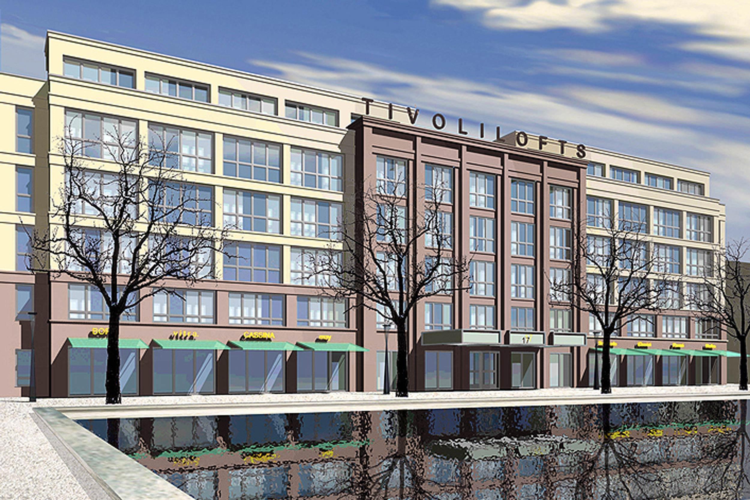 TIVOLILOFTS - Neubau eines Geschäftshauses mit modernen Bürolofts. Das Bürogebäude greift auf Referenzen aus der Baugeschichte zurück