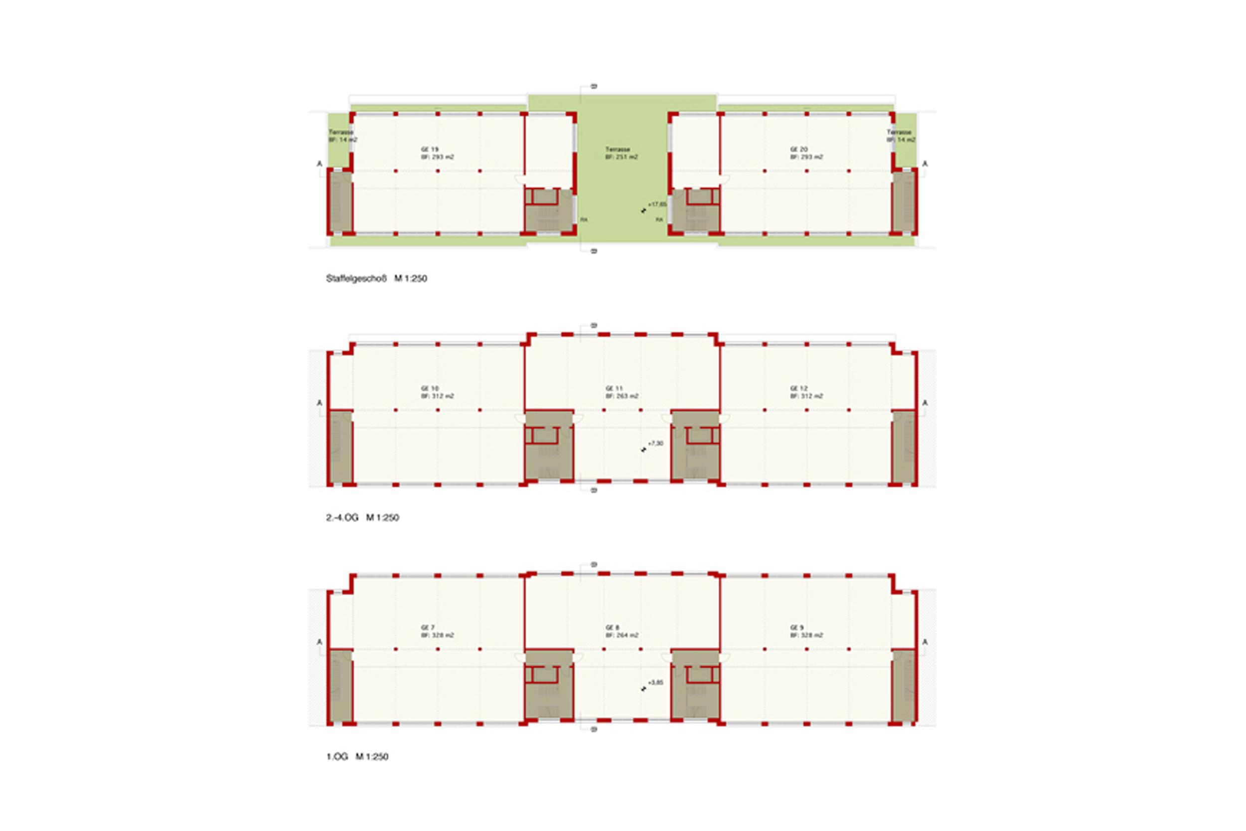 TIVOLILOFTS - Neubau eines Geschäftshauses mit modernen Bürolofts. Die Grundrisse ermöglichen eine flexibel gestaltbare Arbeitsplatzorganisation.
