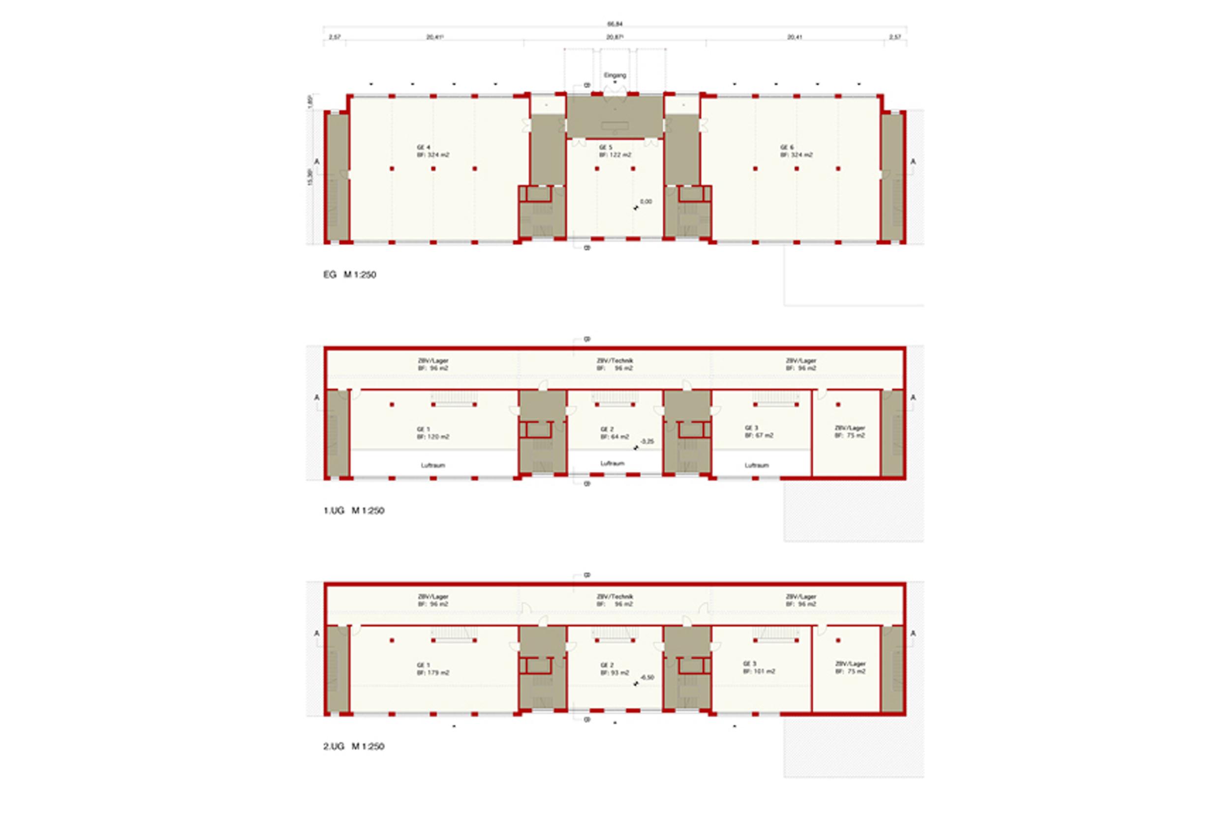 TIVOLILOFTS - Neubau eines Geschäftshauses mit modernen Bürolofts. Die repräsentative Lobby hat die Qualität einer Hotelhalle.