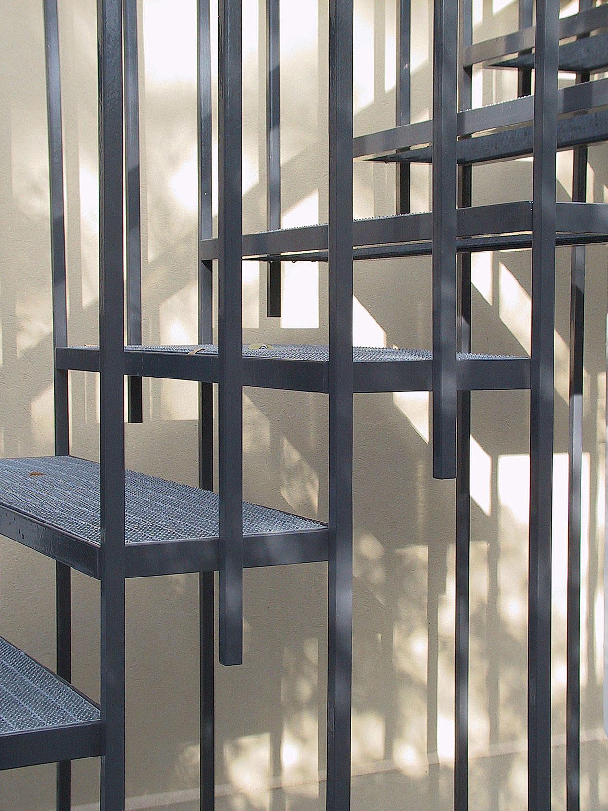 Die Gartentreppe in eleganter und filigraner Leichtbauweise.