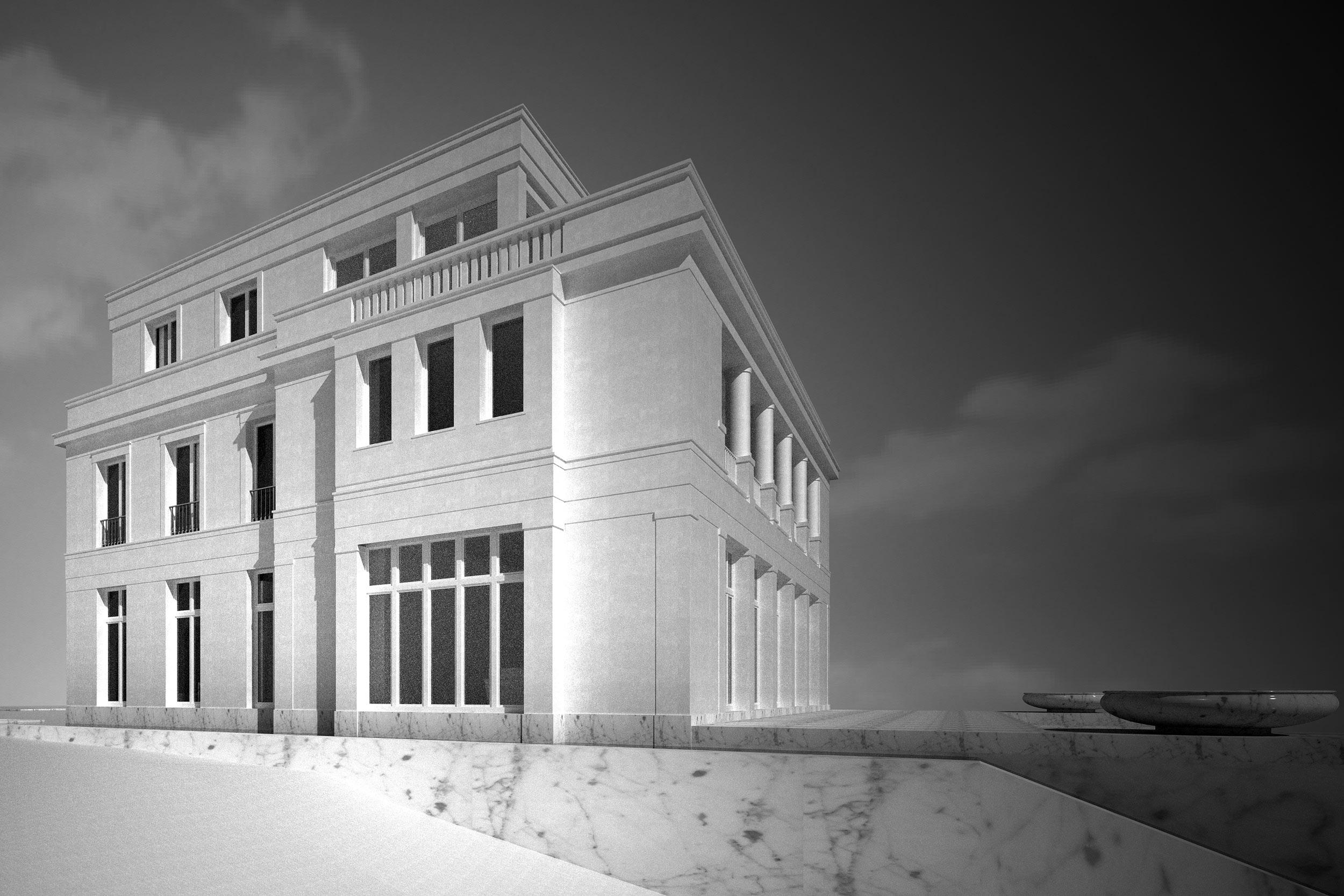 Die Anordnung der Altbaufenster erzeugen eine proportionierter Harmonie