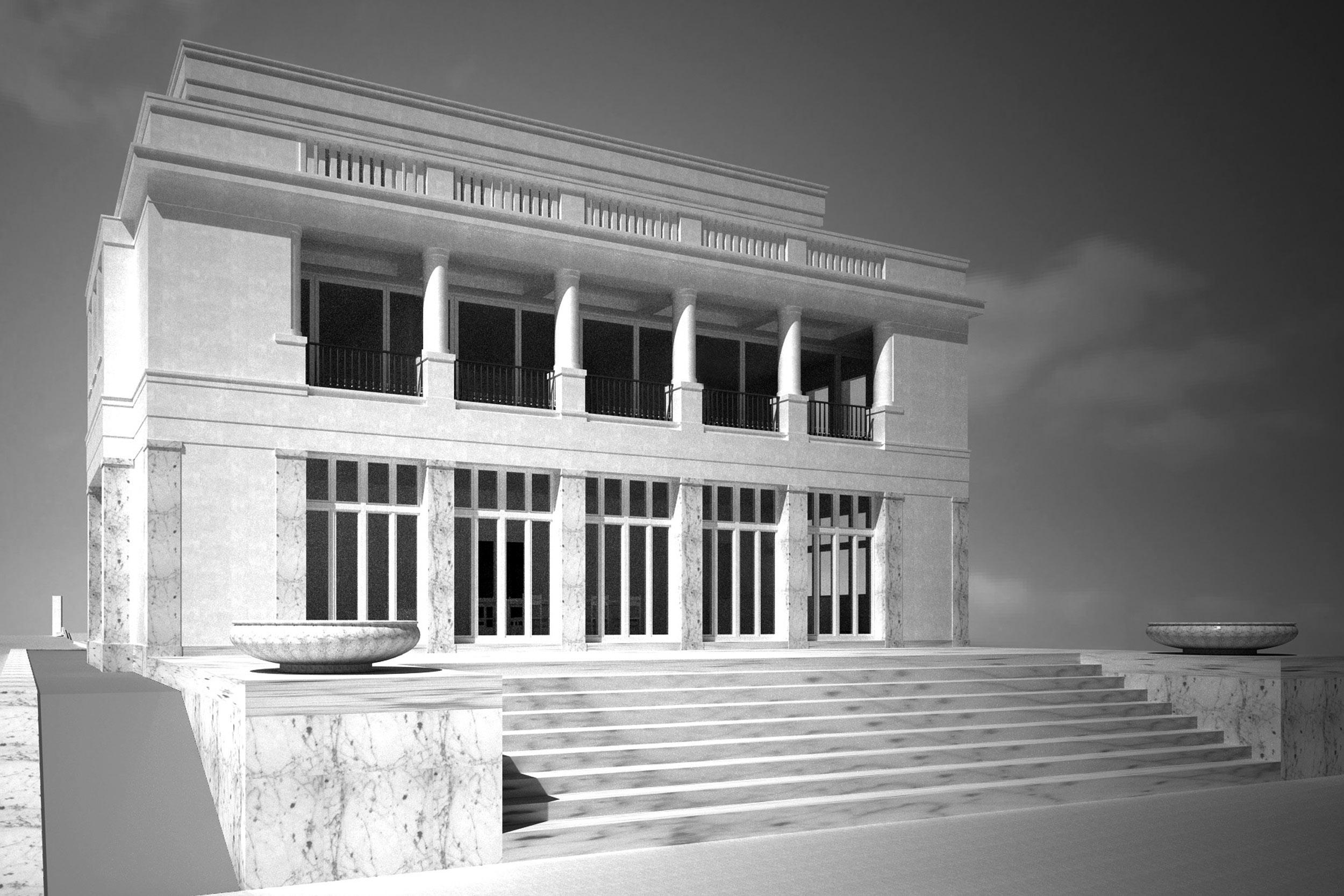 Offenheit und Leichtigkeit erzeugen Loggia, Terrasse und Balustrade