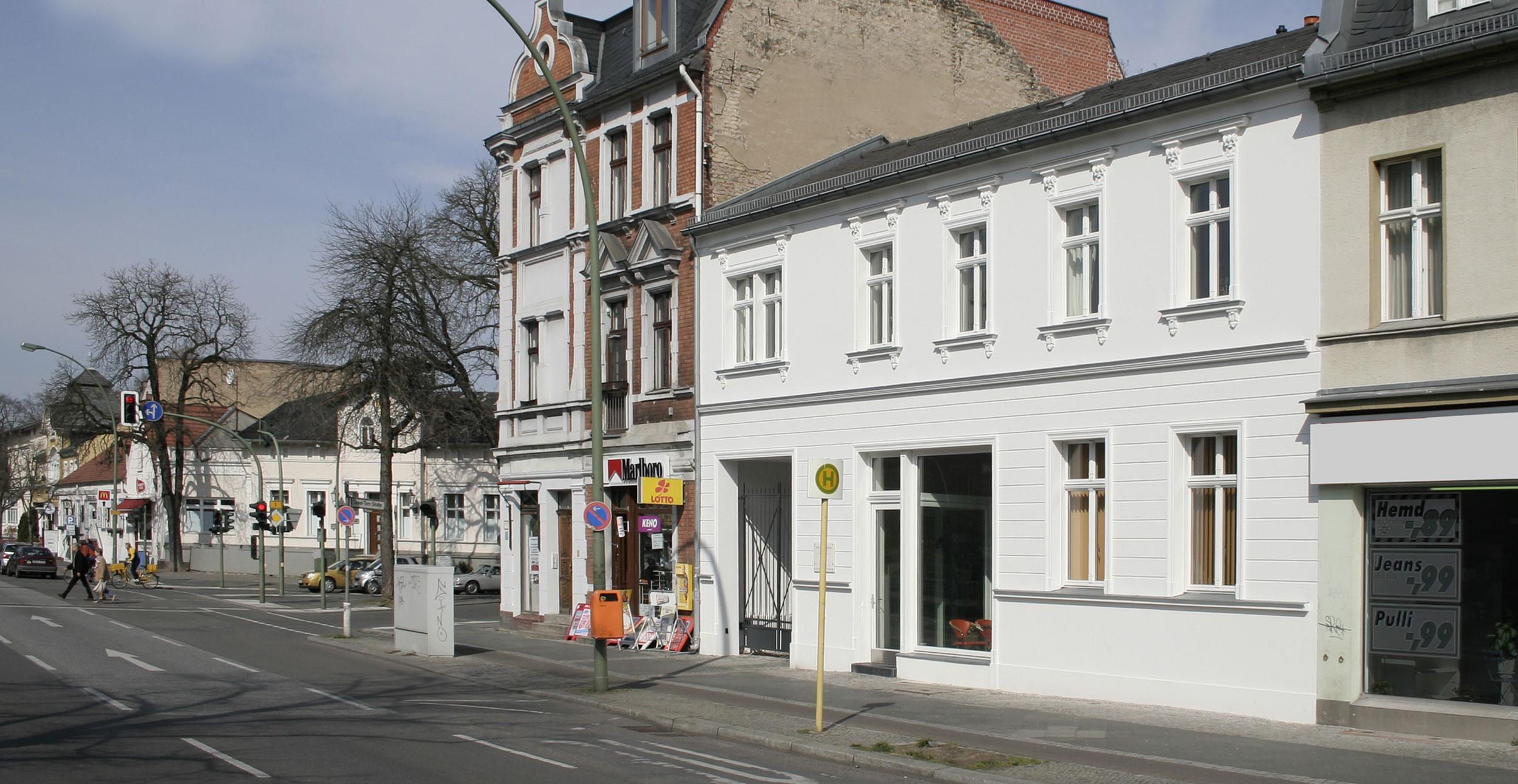 Die Fassade im Straßenbild nach der denkmalgerechten Rekonstruktion