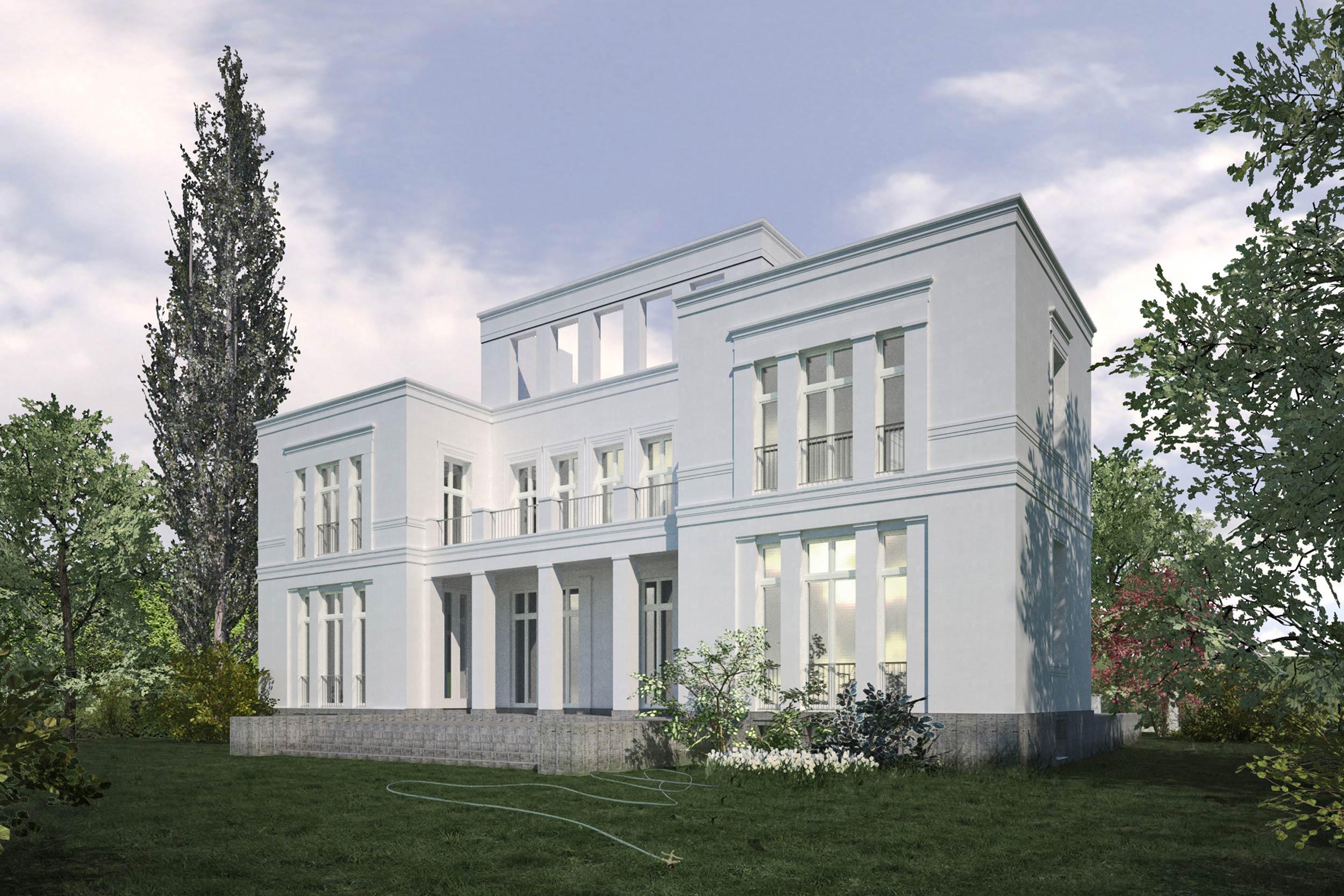 Errichtung klassischer Neubauvillen in Potsdam Jungfernseedivdiv class