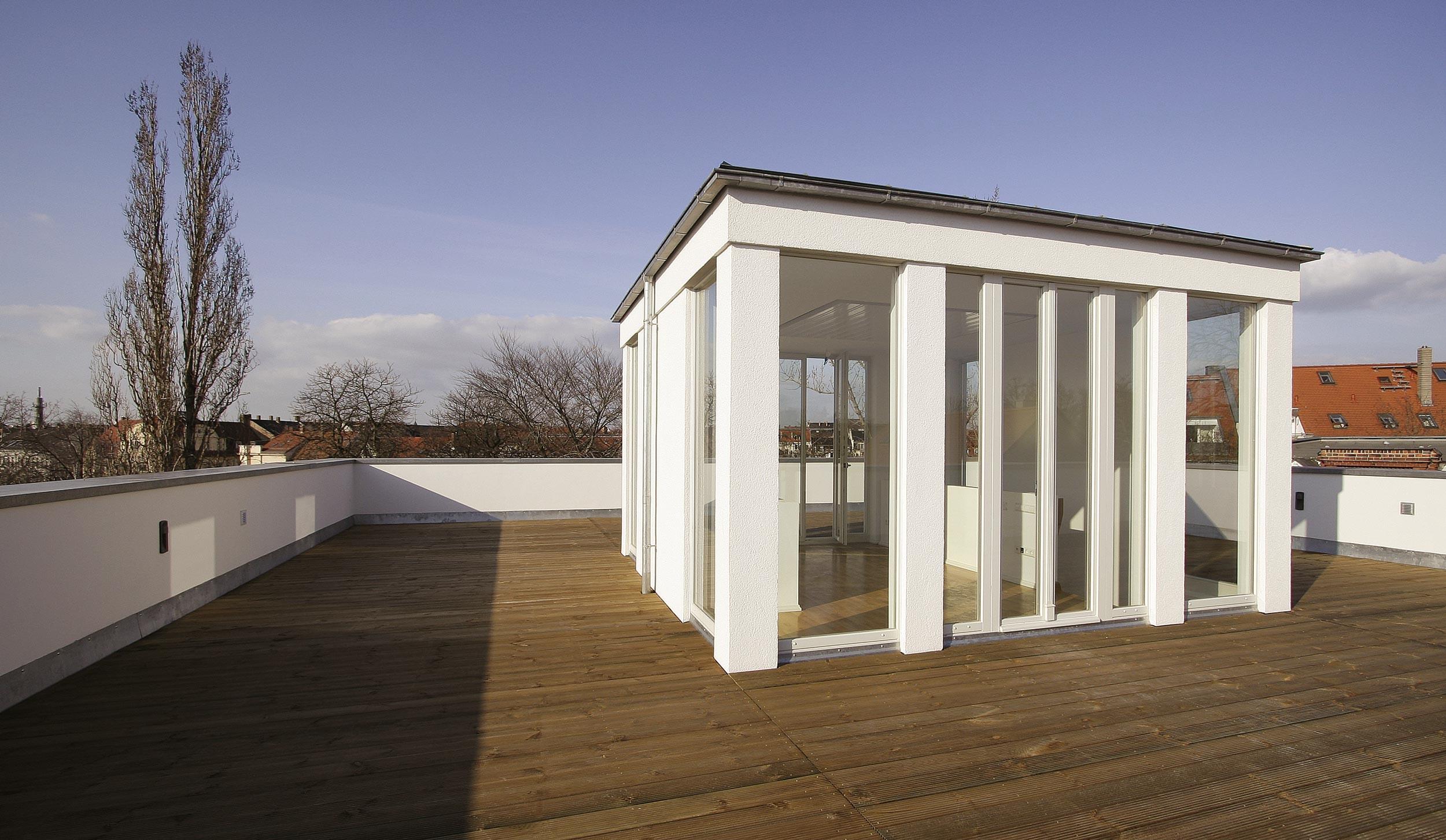 Der neue Pavillon auf dem Rooftop mit Aussicht über ganz Leipzig