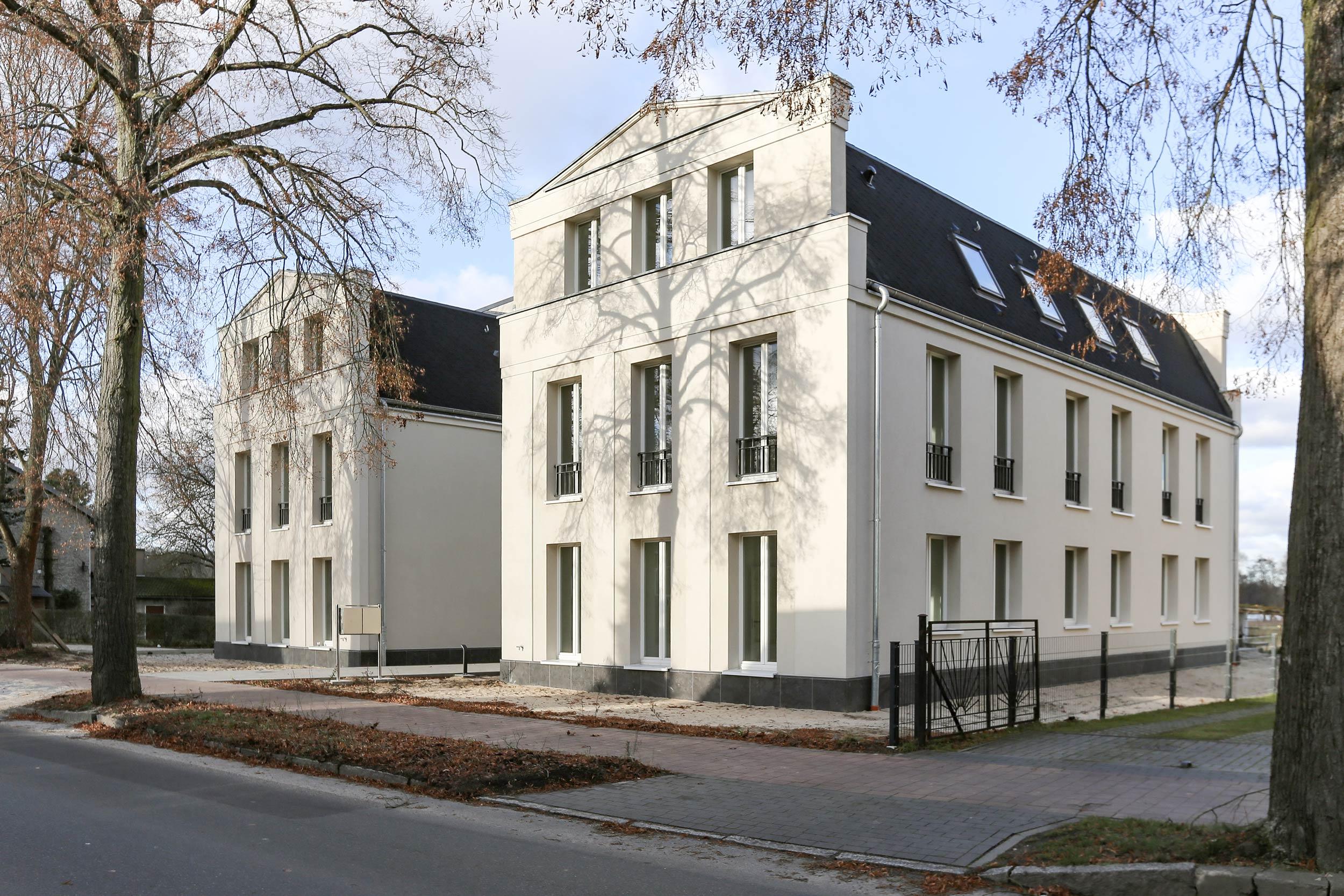 Neubau von Eigentumswohnungen im traditionellen Stil Berlin - Das Projekt ist in massiver Ziegelbauweise ohne Wärmedämm-Verbundsystem errichtet.