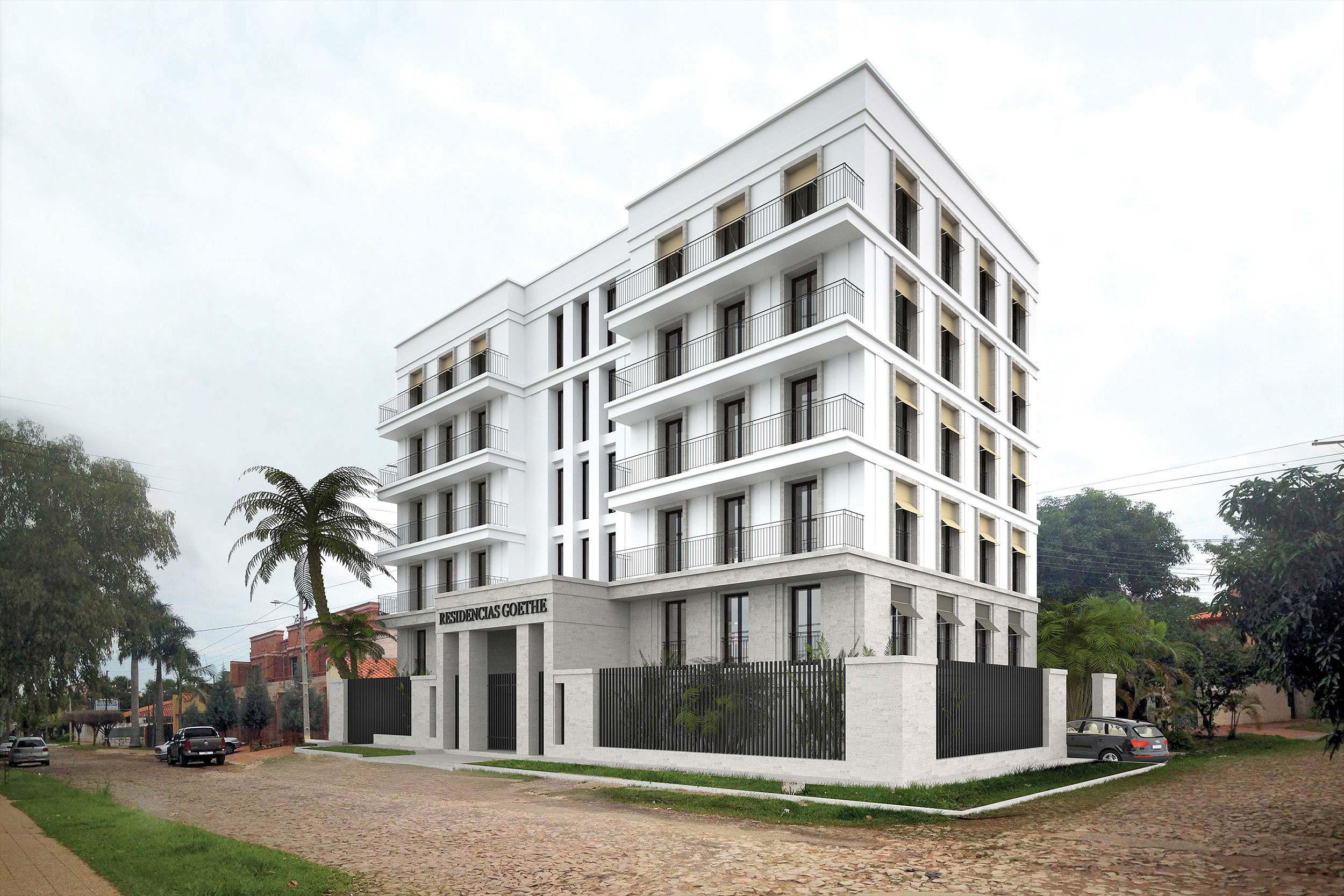 GOETHE RESIDENZEN - Neubau eines Appartementhauses mit exklusiven Wohnungen - Das Design verbindet europäische und regionale Stilelemente des Klassizismus.
