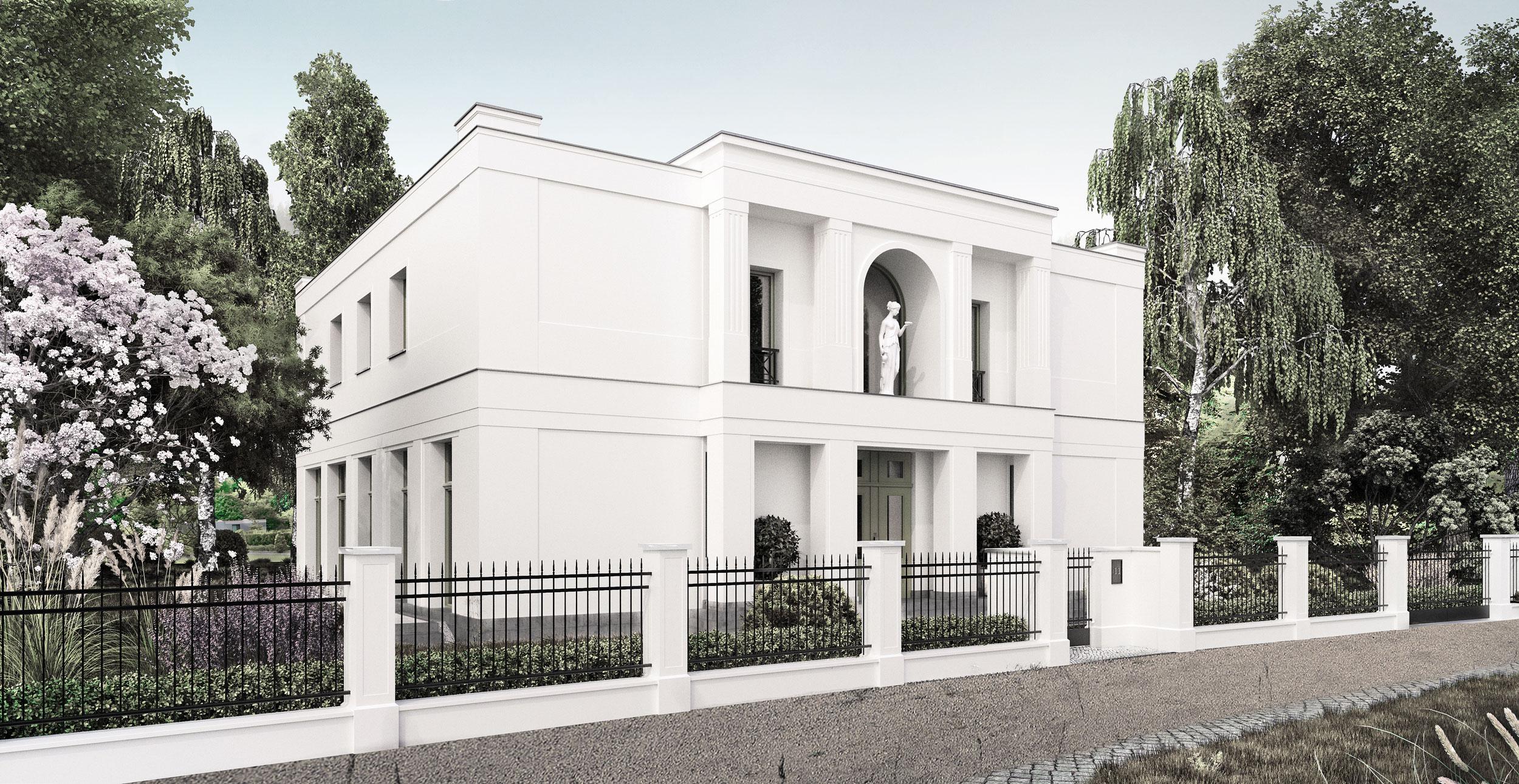 neubau einer villa im klassik stil mit mittelrisalit in potsdam. Black Bedroom Furniture Sets. Home Design Ideas