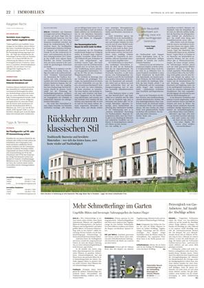 Presseartikel Villa im klassischen Stil von Carsten Vogel - Berliner Morgenpost - Gute Bauqualität amortisiert sich langfristig.
