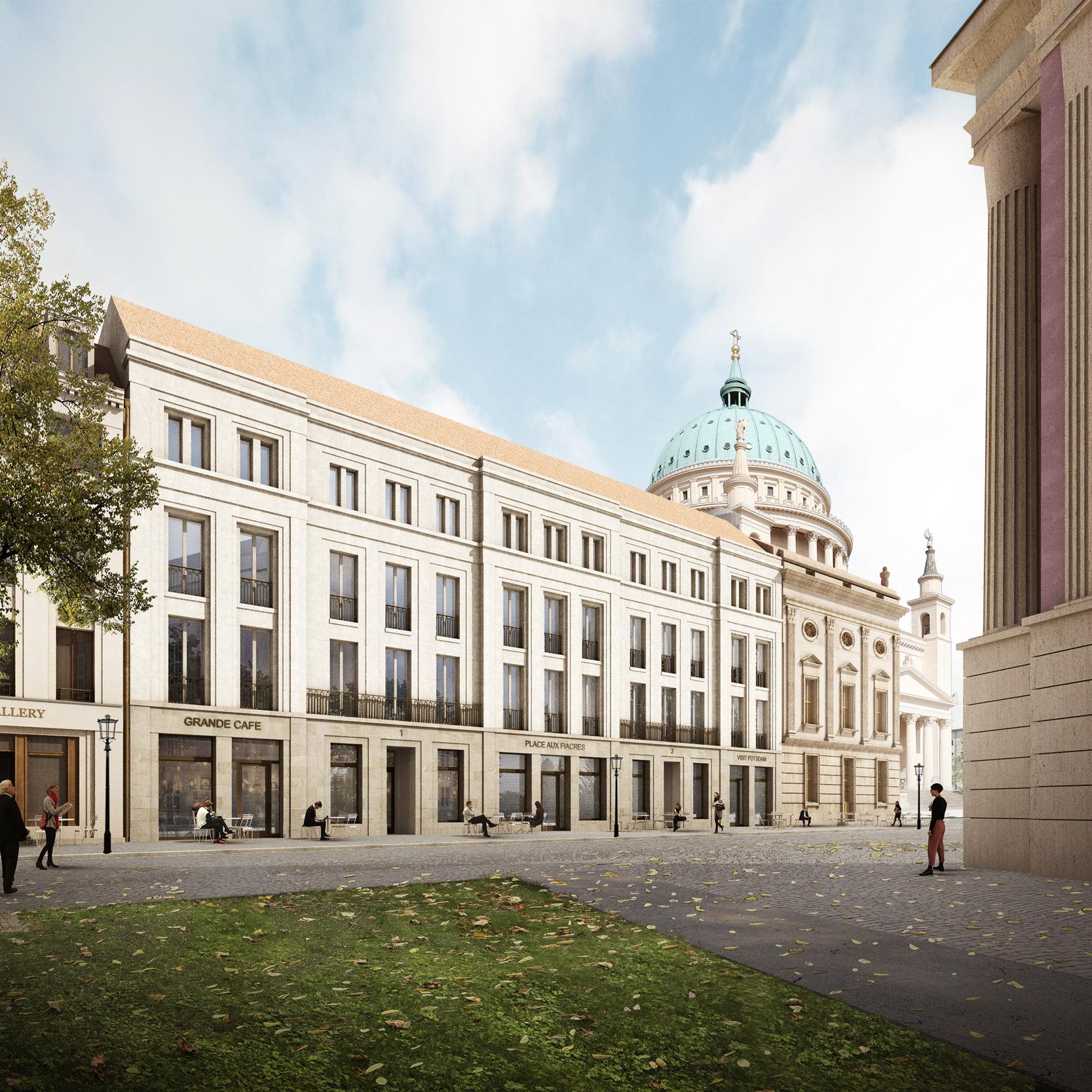 Neues Stadtpalais in der historischen Mitte Potsdam